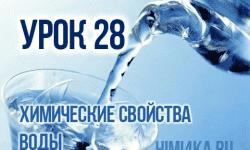 Урок 28. Химические свойства воды