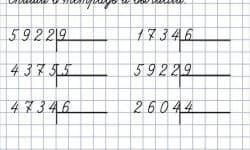 Деление многозначного числа на однозначное - алгоритм и примеры решения