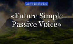 Future Simple Passive Voice – примеры предложений, упражнения с пассивным залогом