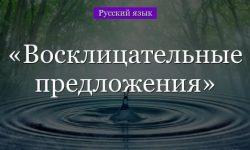 Восклицательные предложения – примеры, знаки препинания (5 класс, русский язык)