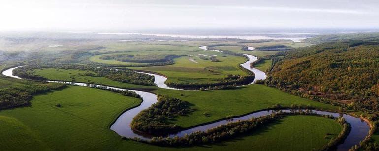 Описание реки Волга - географическое положение и общие характеристики
