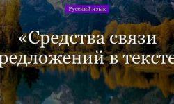 Средства связи предложений в тексте – примеры, способы (5 класс, русский язык)