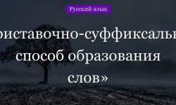 Приставочно-суффиксальный способ образования слов – примеры