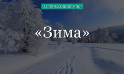 Зима и ее признаки (окружающий мир, 3 класс)