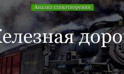 «Железная дорога» анализ стихотворения Некрасова по плану кратко – антитеза, жанр, история создания, главная мысль