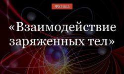 Взаимодействие заряженных тел – закон Кулона о электризации