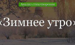 «Зимнее утро» анализ стихотворения Пушкина по плану кратко (6 класс) – главный герой, жанр, гипербола, тема