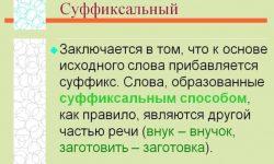 Суффиксальный способ образования слов (100 примеров)