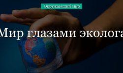 Окружающий мир глазами эколога (4 класс)