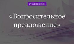Вопросительное предложение – примеры, функции (3 класс, русский язык)