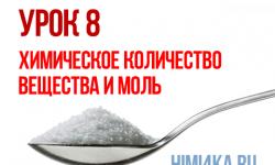 Урок 8. Химическое количество вещества и моль