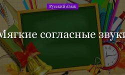 Мягкие согласные звуки – правило мягкости в русском языке (2 класс)