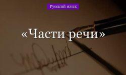 Части речи в русском языке – таблица структуры
