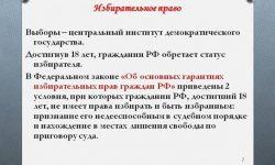 Законодательство РФ о выборах