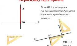 Как провести перпендикуляр к прямой - правило построения
