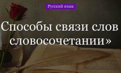 Связь слов в словосочетании – способы, виды и типы (3 класс, русский язык)
