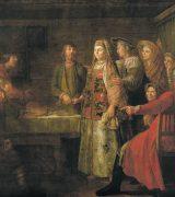 «Празднество свадебного договора» - описание картины Михаила Шибанова