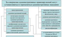Административные наказания - виды, характеристика и меры