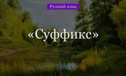 Суффикс – правописание в русском языке в таблице (русский язык, 7 класс)