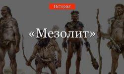 Мезолит – хозяйство эпохи, изменения в жизни человека древнего периода