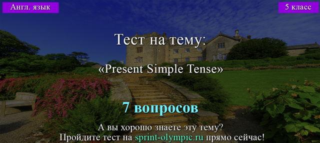 Present Simple Tense в английском языке